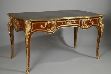 Bureau plat de style Louis XV - A.E. Beurdeley - Tobogan Antiques - Antiquaire Paris