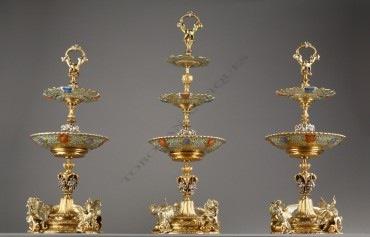 Centres de table des Rothschild Denière Jacob Petit porcelaine bronze objets Tobogan Antiques Paris antiquités XIXe siècle