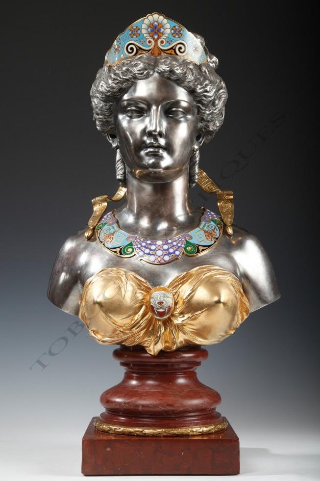 E Cornu Amp G Viot Et Cieneo Greek Bust Tobogan Antiques