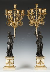 E-M. FalconetPair of Candelabras