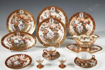 kutani-porcelain-service