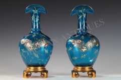 Fine Pair of Japanese Style Vases  Baccarat