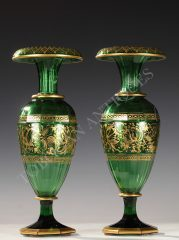 Fine Pair of Vases  Bohemian Crystal