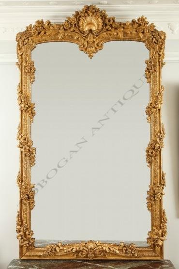 Exceptionnel Miroir objets Tobogan Antiques Paris antiquités XIXe siècle