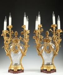 H. VianPair of vase-candelabras