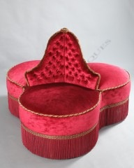 Napoleon III period circular couch