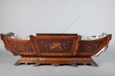 Jardinière Japonisante bois Viardot objets Tobogan Antiques Paris antiquités XIXe siècle