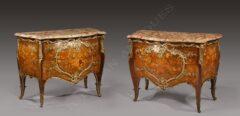 Paire de commode style Louis XV – L. Messagé et J.E. Zwiener – Tobogan Antiques – Antiquaire Paris 8ème-12