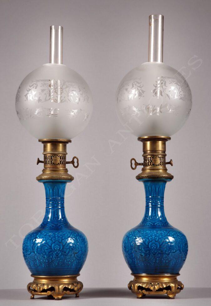 T. Deck<br />Paire de lampes Orientalistes