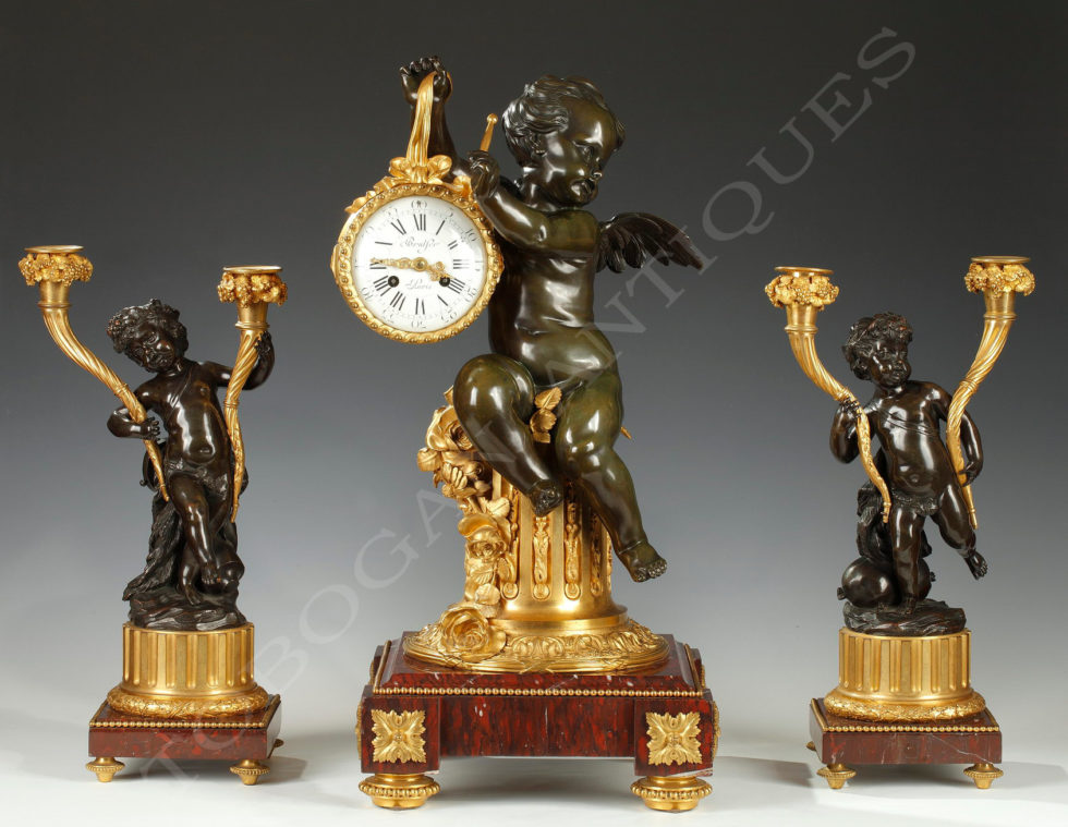 """The drummer child"" clock set"