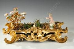 Jardinière Louis XV en bronze doré et porcelaine - Tobogan Antiques - Antiquaire Paris