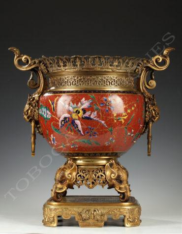 Jardinière Japonisante - Attribué à L'escalier de cristal et E. lièvre - Tobogan Antiques - Antiquaire Paris