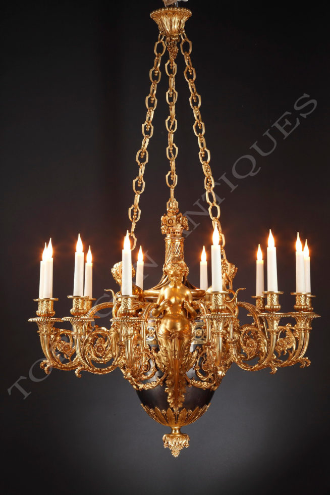 A.E. Beurdeley <br/> Important chandelier