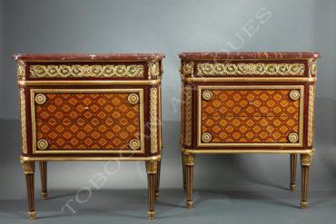 Commodes de style Louis XVI - Attribué à Krieger - Tobogan Antiques - Antiquaire Paris