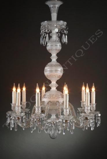 Lustre en cristal - Attribué à Baccarat - Tobogan Antiques - Antiquaire Paris