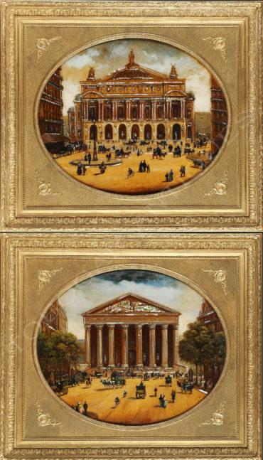 Vue de la Madeleine et de l'Opéra Garnier - Tobogan Antiques- Antiquaire Paris