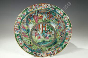 Bassin porcelaine de Canton - Tobogan Antiques- Antiquaire Paris 1