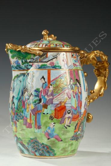 Pichet porcelaine de Canton - tobogan Antiques - Antiquaire Paris 2