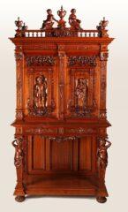 Cabinet néo-Renaissance – Attribué à H.A. Fourdinois – Tobogan Antiques – Antiquaire Paris 8ème-8