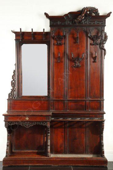 Porte-manteaux japonisant – Signé G. Viardot – Tobogan Antiques – Antiquaire Paris 8ème