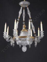 Lustre en cristal taillé – Attribué à Baccarat – Tobogan Antiques – Antiquaire Paris 8ème_05