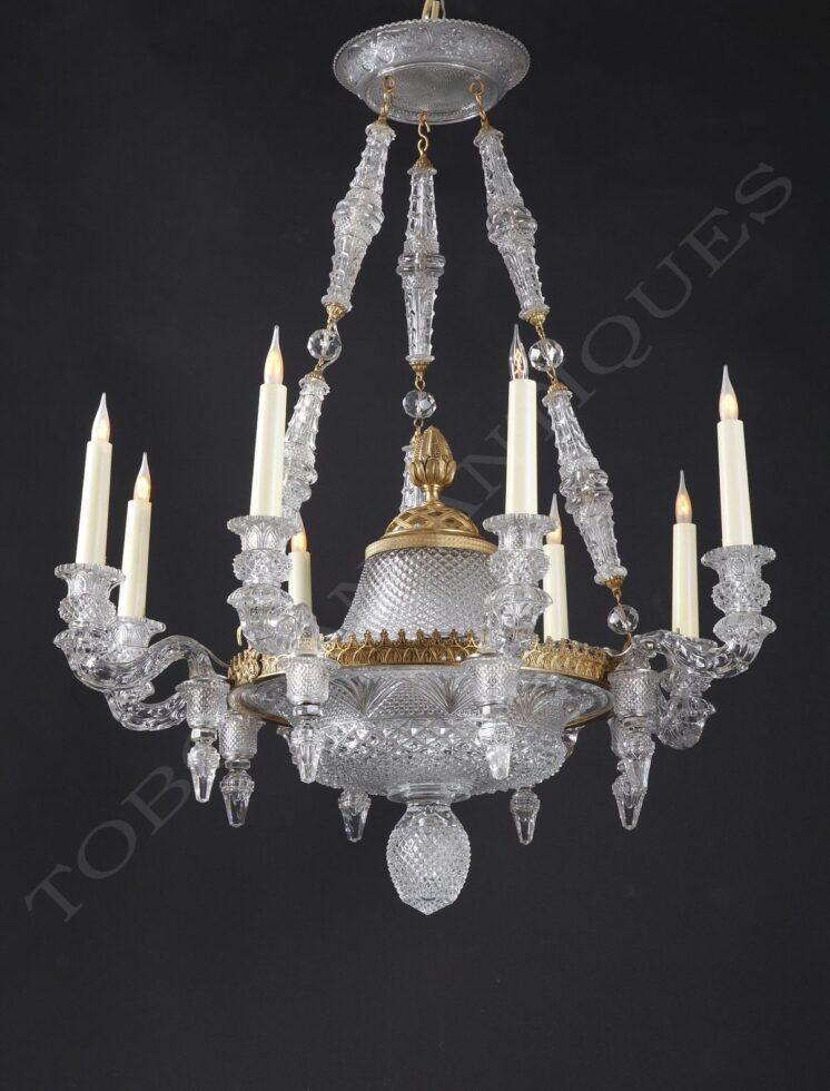 Baccarat <br/> Rare lustre en cristal