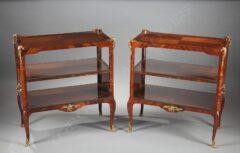 Paire de tables servantes de style Louis XV – Tobogan Antiques – Antiquaire Paris 8ème-11