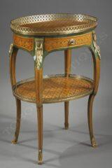 Table de salon style Louis XV d'après RVLC – signée G. Durand – Tobogan Antiques – Antiquaire Paris 8ème-12