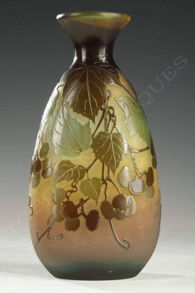 "E. Gallé <br/> ""Grapes"" Vase"