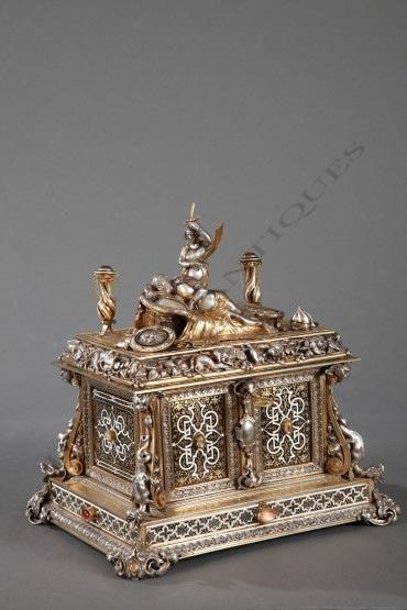 Coffret à Bijoux Geoffroy-Dechaume & Rudolphi objets Tobogan Antiques Paris antiquités XIXe siècle