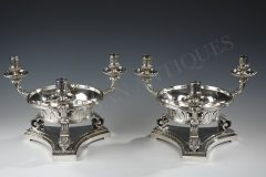 A Pair of Jardinières Candelabras