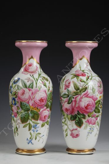pair of vases paris porcelain