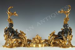 Pair of Andirons « Aux Amours »