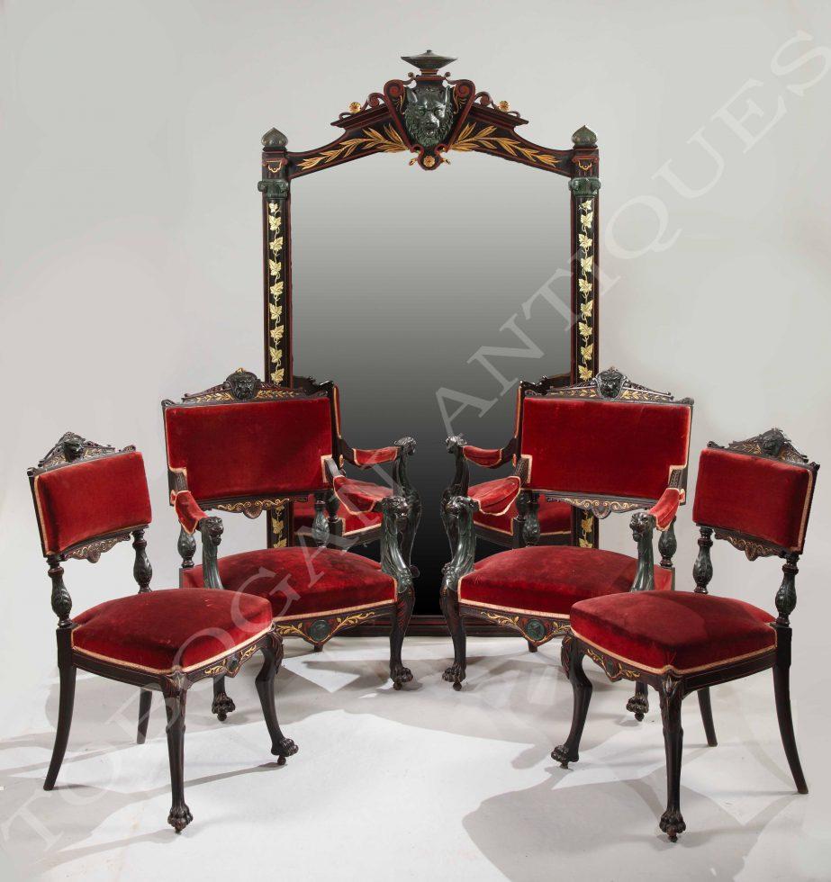 P. Mazaroz <br/> Rare Neo-Pompeian Style Salon