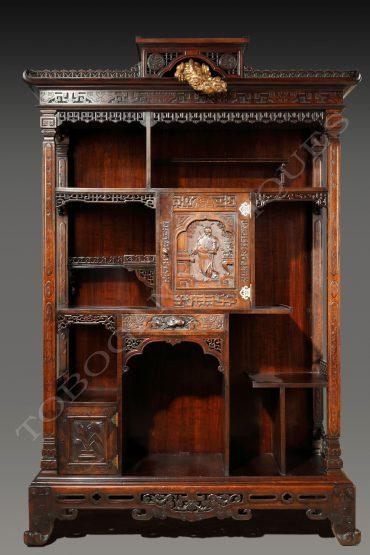 Cabinet japonisant- Attribué à Viardot - Tobogan Antiques - Antiquaire Paris
