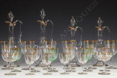 Important Glasses Set  Baccarat