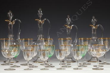 crystal glasses set baccarat