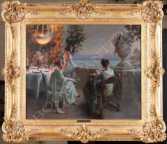 D. Enjolras  Elegant ladies on the terrace
