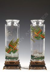Baccarat  Charmante paire de vases
