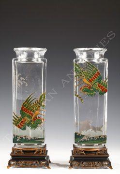 Baccarat <br/> Charmante paire de vases