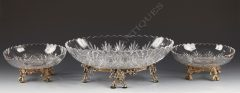 Baccarat  Centre de table en cristal