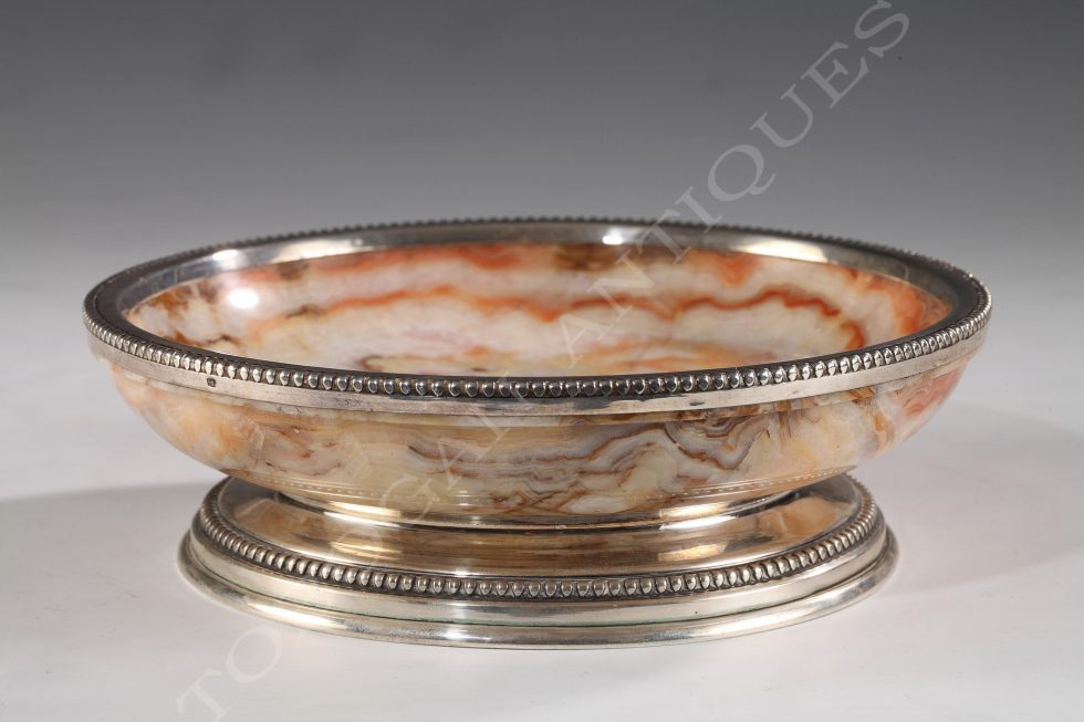Charming Bowl <br/> Onyx and Silver
