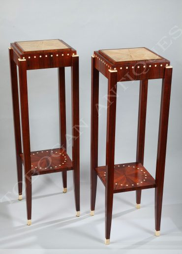 pair of art deco stands