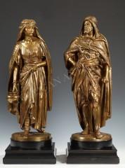 "J.-J Salmson  ""A Female Watercarrier"" and ""An Arabian Warrior"""
