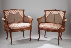 G. Jacob  Very Fine Pair of Marquise chairs