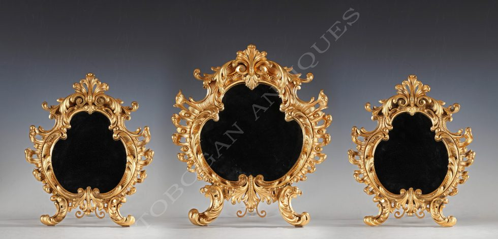Rare set of three mirrors