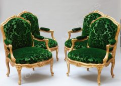 "M. Gourdin  Set of four armchairs ""à châssis"""