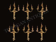 F.Linke Set of six Louis XV style Wall-Lights