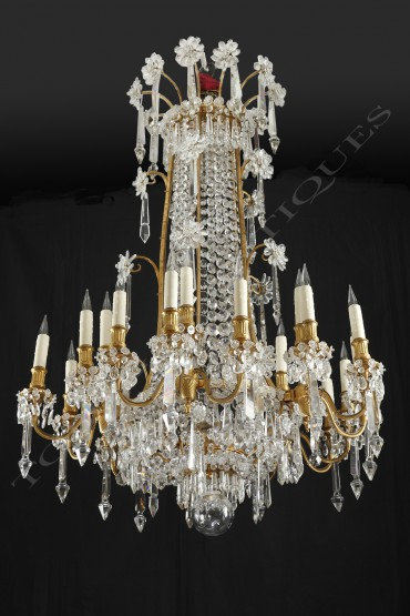 lustre-en-bronze-dore-cristal