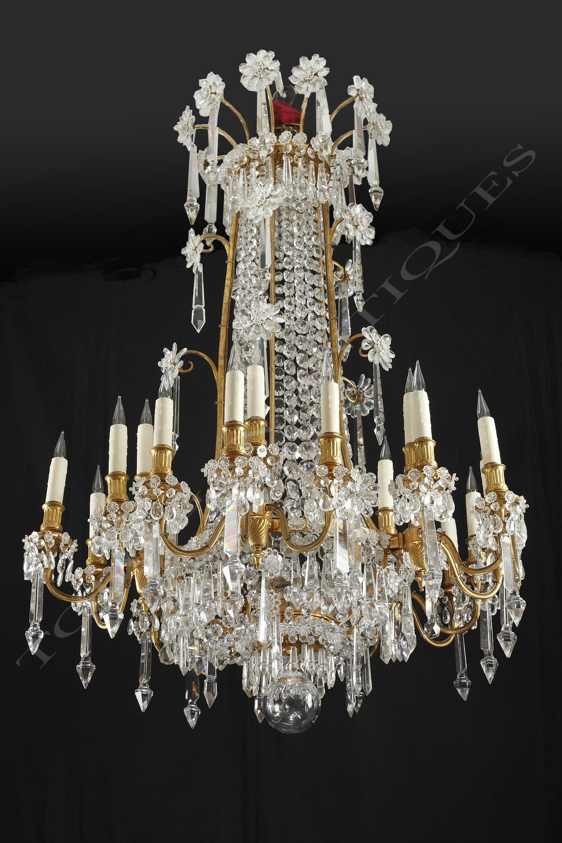 Magnificent baccarat crystal chandelier tobogan antiques paris aloadofball Choice Image